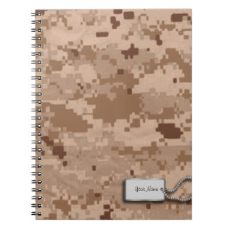 Desert Sand Digital Military Camouflage Notebook