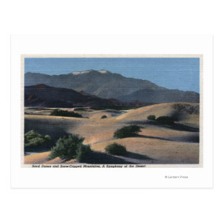Desert Sand Dunes and Snow-Capped Mountains Postcard