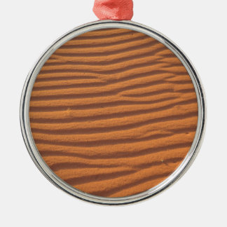 Desert Sands Silver-Colored Round Decoration