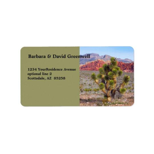 Desert Scene Landscape Return Address Address Label
