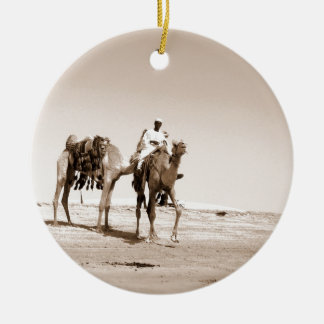 Desert  Scene  with Camels Christmas Ornament