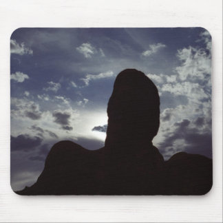 Desert Silhouette: Arches National Park Mouse Pad