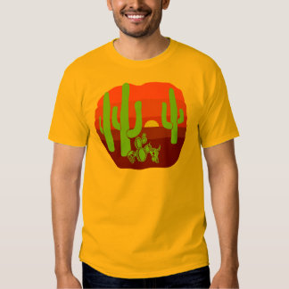 Desert Skulls Cacti Sunset T Shirts