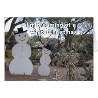 Desert Snowbirds Christmas Card