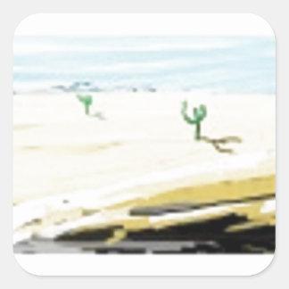 desert square sticker