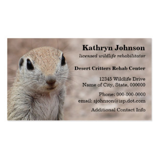 Desert Squirrel Business Card Template