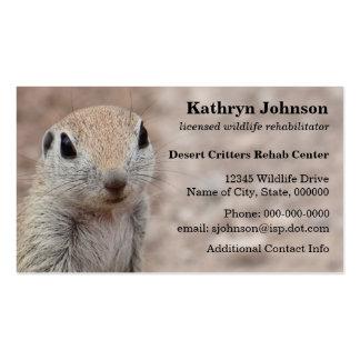 Desert Squirrel Business Card Template