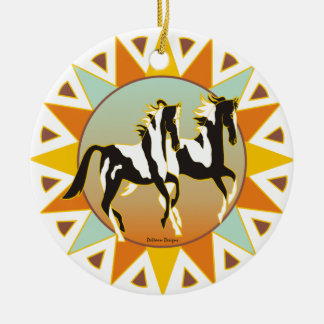 Desert Star Paint Horse Ornament