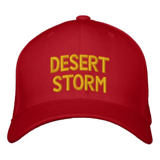 DESERT STORM EMBROIDERED HATS