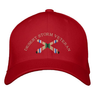 Desert Storm Veteran Artillery Crossed Cannon Hat Embroidered Cap