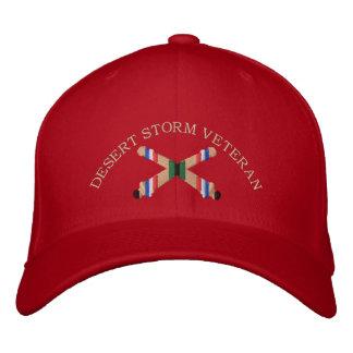 Desert Storm Veteran Artillery Crossed Cannon Hat Embroidered Cap