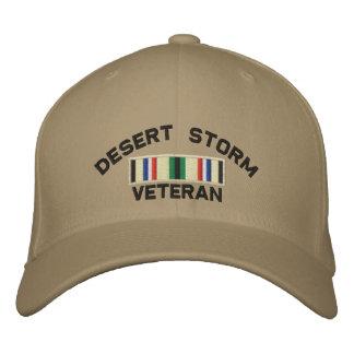 Desert Storm Veteran Embroidered Hats