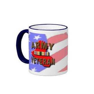 Desert Storm Veteran Service Ribbon ARMY Coffee Mugs