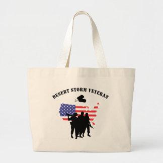 Desert Storm Veteran Jumbo Tote Bag