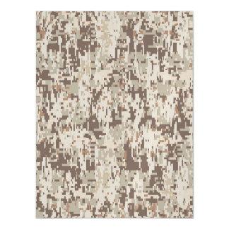 Desert Style Digital Camouflage Magnetic Invitations