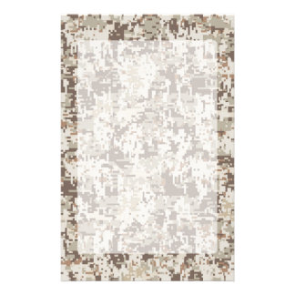 Desert Style Digital Camouflage Stationery
