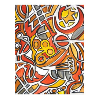Desert Sun - Abstract Art 21.5 Cm X 28 Cm Flyer