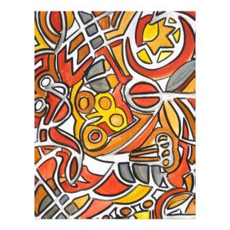Desert Sun - Abstract Art 21.5 Cm X 28 Cm Flyer