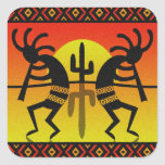 Desert Sun Cactus Southwest Kokopelli Sticker