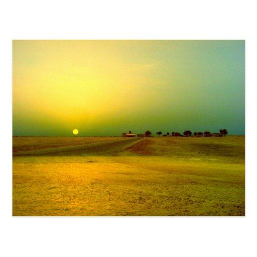 Desert Sunrise Collage Post Cards