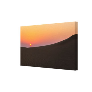 Desert sunset in Dubai Canvas Prints
