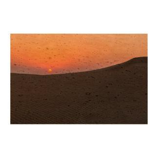 Desert sunset in Dubai Cork Paper