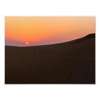 Desert sunset in Dubai Art Photo