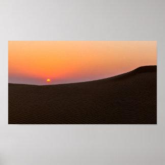 Desert sunset in Dubai Print