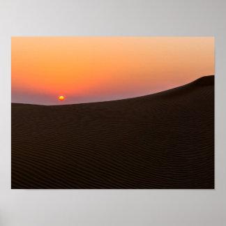 Desert sunset in Dubai Poster