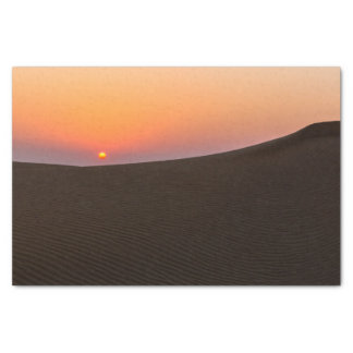 Desert sunset in Dubai Tissue Paper