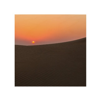 Desert sunset in Dubai Wood Canvases