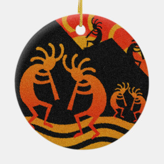Desert Sunset Kokopelli Southwest Christmas Ornament