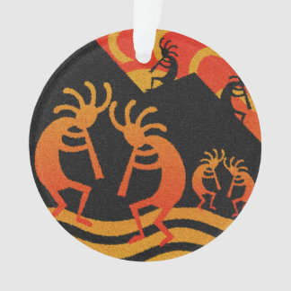 Desert Sunset Kokopelli Southwest Christmas Tree Ornament