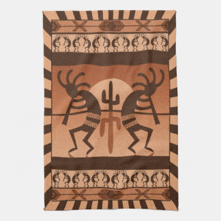 Desert Sunset  Kokopelli Southwest Tea Towel