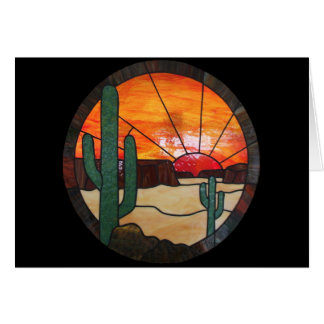 Desert Sunset Stained Glass Notecard