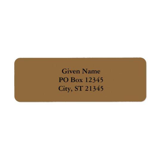 Desert Tan Return Address Label