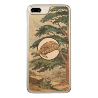Desert Tortoise In Natural Habitat Illustration Carved iPhone 8 Plus/7 Plus Case