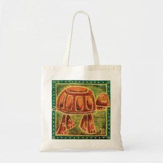 Desert Tortoise in Oil Pastel Budget Tote Bag
