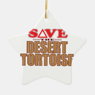 Desert Tortoise Save Christmas Ornament