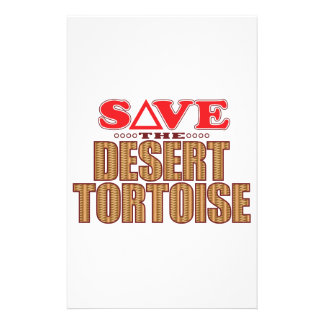 Desert Tortoise Save Personalized Stationery