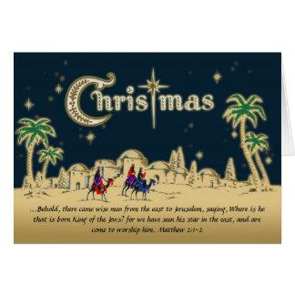 Desert Travelers Christian Christmas Card w Verse