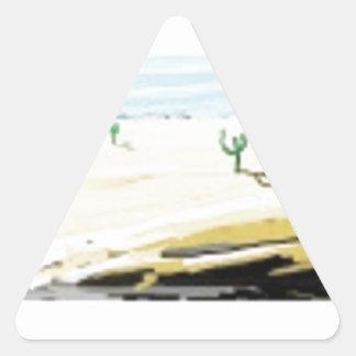 desert triangle sticker