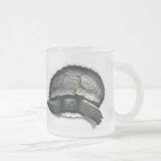 DESERT TURTLE,  COMING AT YA FROSTED GLASS MUG