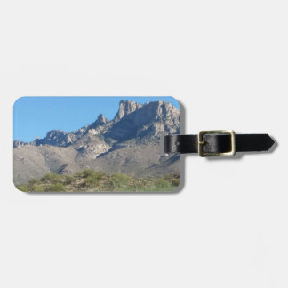 Desert view luggage tag