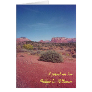 Desert Vista Blank Personalized Note Cards
