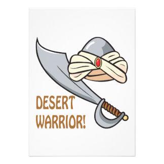 Desert Warrior Personalized Invitation