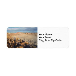 Desert Wave return address label