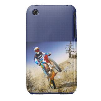 Desert Wheelie Motocross iPhone 3 Case-Mate Cases