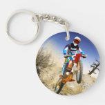 Desert Wheelie Motocross Keychains