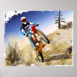 Desert Wheelie Motocross Posters